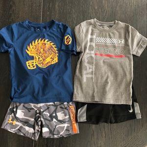 Boys Under Armour Nike shorts tshirts bundle 4